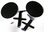 Alloy Race Numbers Side Panels. Retro Cafe Racer Style. Black: Made In The USA.